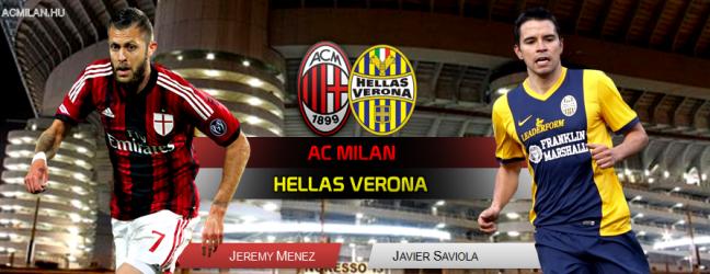 Milan-Verona, szombat este 20:45!