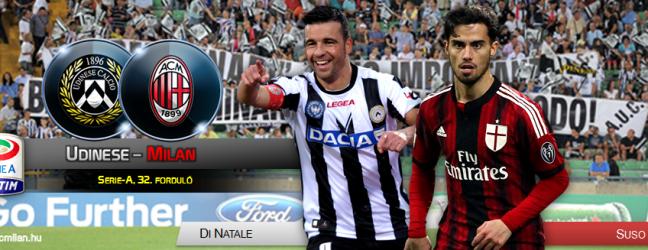 Udinese-Milan: szombaton 18:00-kor.