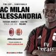 Íme a hivatalos kezdőcsapatok a ma esti Milan-Alessandria kupameccsre. MILAN: Abbiati; De Sciglio, Zapata, Romagnoli,...