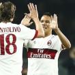 A Milan csapatkapitánya, Riccardo Montolivo is részt vett Cristian Brocchival a sajtótájékoztatón az esti Milan-Juventus...