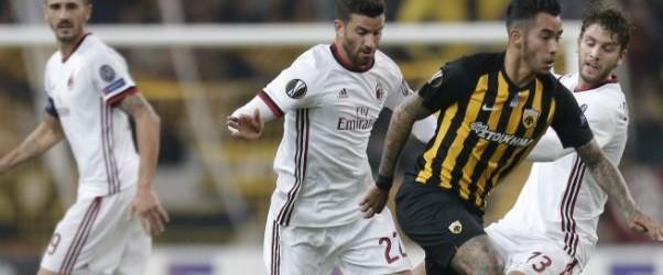 AEK Athén-Milan 0-0.