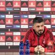 Gattuso megtartotta meccs előtti sajtótájékoztatóját.